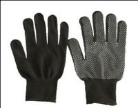 Перчатки нейлоновые с ПВХ, чёрные