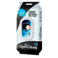 Влажные салфетки OptiClean для Экранов всех типов, 50шт