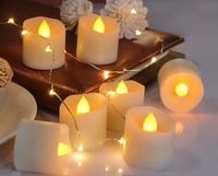 Мерцающая LED свеча, белая