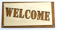 """Деревянные таблички для бани """"WELCOME"""""""