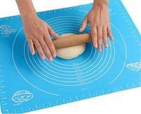 Силиконовый коврик для раскатки теста, с разметкой, 40х50 см