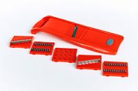 Овощерезка - шинковка Красная пластиковая 6 нож.