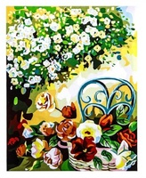 """Картина-рисование по номерам """"Цветы в корзине"""""""