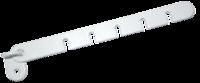 Ограничитель для окон и теплиц L-175, белый металл