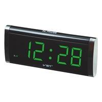 Часы настольные VST 730-2 зелёные цифры