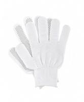 Перчатки нейлоновые с ПВХ, белые