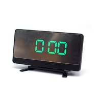 Настольные часы 068-4 ярко-зеленые цифры