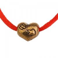 Браслет красная нить Сердце любви