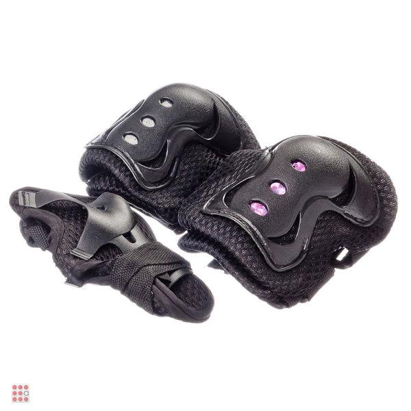 Набор защиты однотонный (колени, локти, запястья), размер S