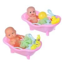 Пупс в ванночке с аксессуарами