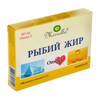 """Рыбий жир пищевой серии """"Мирролла"""", 100 шт"""