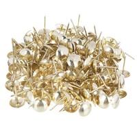 Гвозди мебельные усиленные 100гр, 167шт, золото