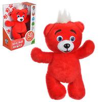 """Игрушка мягкая звуковая """"Красный медвежонок"""""""
