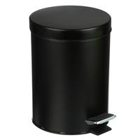 Ведро для мусора с педалью, 5л, Черный