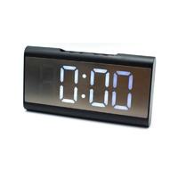 Настольные часы 6098-6 белые цифры