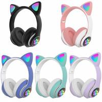 Беспроводные наушники Cat Ear STN-28 со светящимися ушками и лапками