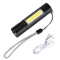 Ручной фонарик USB Р-503 + боковой COB