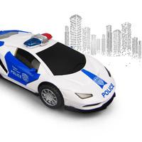 Музыкальная полицейская машина Police City