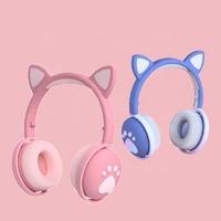 Беспроводные наушники Cat Ear BK1 со светящимися ушками и лапками