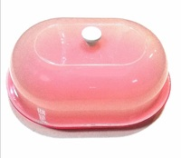 Сухарница-хлебница с крышкой, овальная