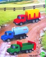 Игровой набор грузовиков с прицепами Truck World, 3 шт