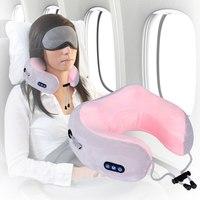 Дорожная массажная подушка для шеи U-shaped massage pillow