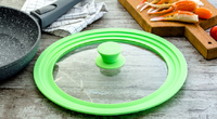Многоразмерная крышка для посуды, Силиконовый ободок, 22см, 24см, 26см