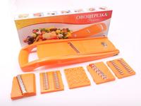 Овощерезка - шинковка Оранжевая пластиковая 6 нож., в коробке