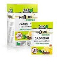 Влажные салфетки с эфирными маслами от комаров Nadzor, 10 шт